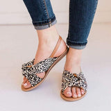 Kakimoda Top Knotted Leopard Sandals