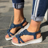 Kakimoda Women Casual Summer Flower Wedge Sandals