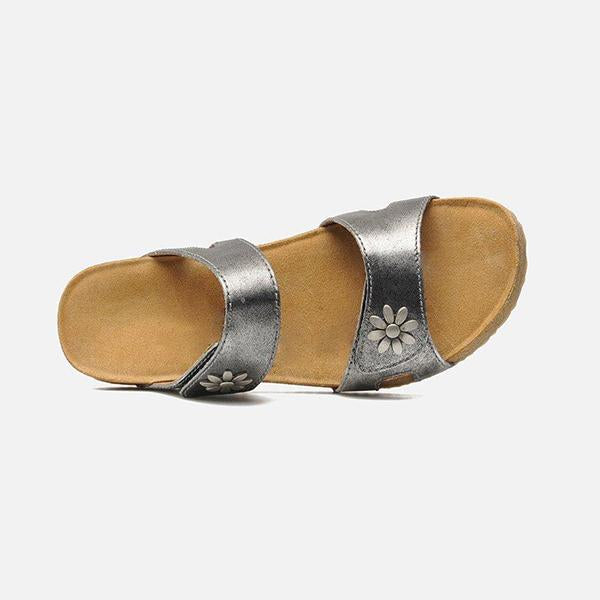 Kakimoda Women Casual Daily Adjustable Wedge Slippers
