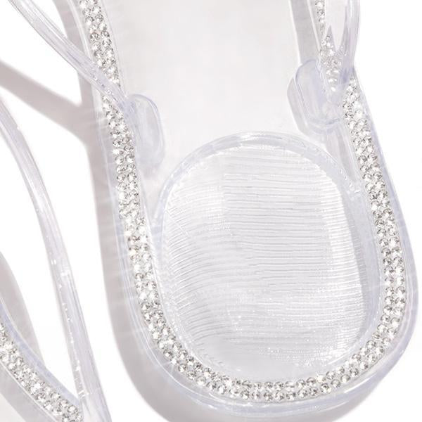 Kakimoda Blossom Clear Thong Strap Embellished Outter Sole Slippers