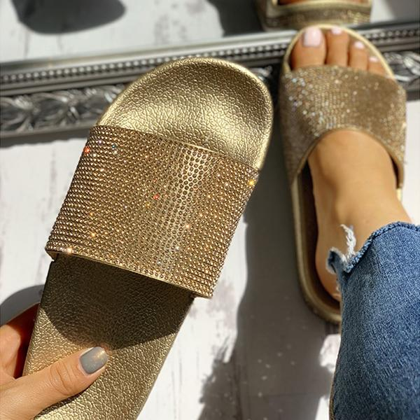 Kakimoda Open Toe Studded Design Flat Slippers