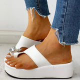 Kakimoda Studded Detail Toe Ring Muffin Wedge Heel Sandals