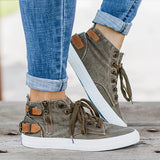 Kakimoda Women Buckle High Top Olive Sneaker Shoes