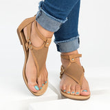 Kakimoda Casual Open Toe Zipper Flat Sandals