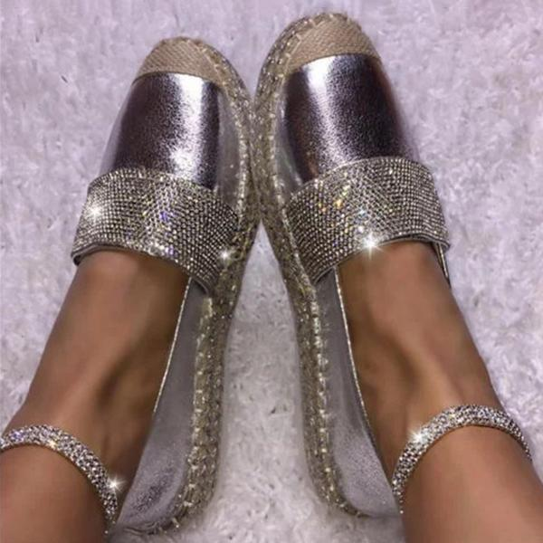 Kakimoda Woman Fashion Solid Color Rhinestone Shoes