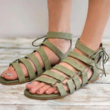 Kakimoda Summer Casual Lace Up Flat Sandals