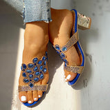 Kakimoda Studded Diamante Trim Chunky Heeled Sandals