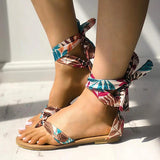 Kakimoda Fashion Strappy Top Post Flat Sandals
