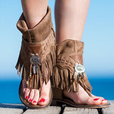 Kakimoda Flat Tassel Holiday Beach Sandals
