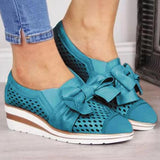 Kakimoda Bowknot Wedge Heel Summer Sneakers