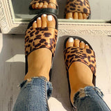 Kakimoda Leopard Pattern Open Toe Slippers