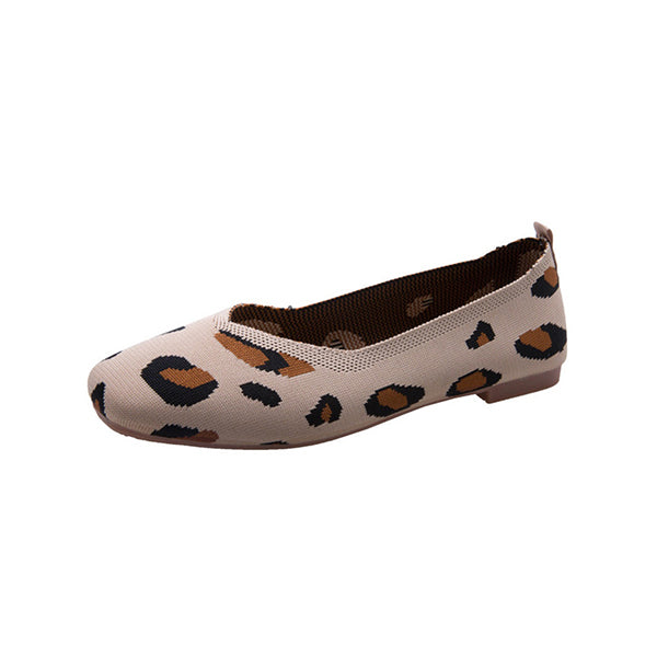 Kakimoda Women Casual Slip on Leopard Flats