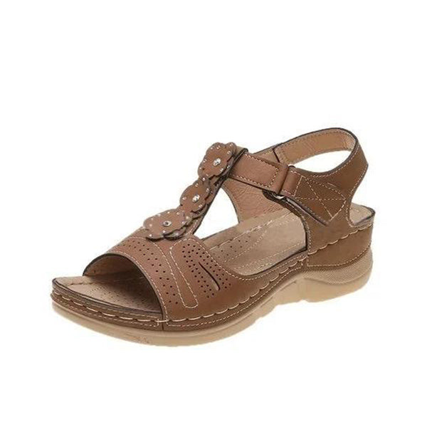 Kakimoda Women Casual Summer Flower Comfy Wedge Sandals