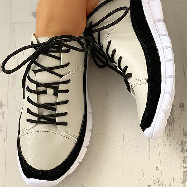 Kakimoda Women Casual Daily comfy Lace Up Sneakers