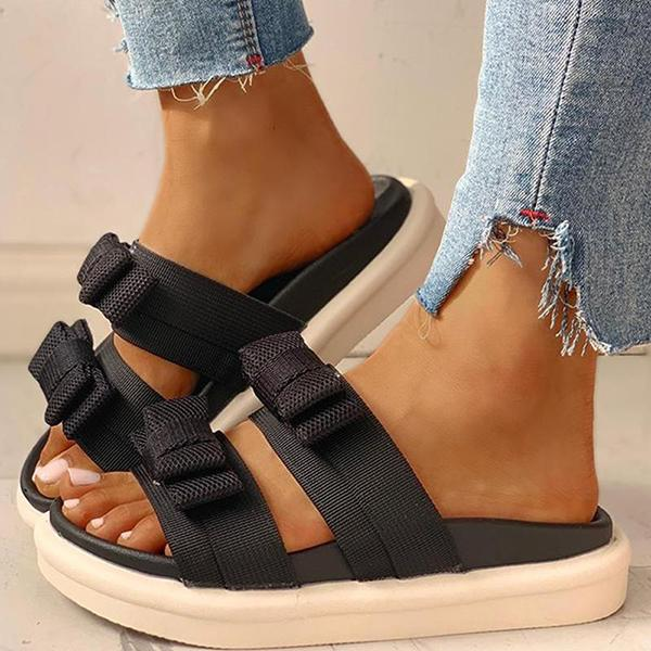 Kakimoda Cute Open Toe Flat Slip-On Sandals