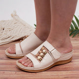 Kakimoda Women Fashion Leather Summer Slippers