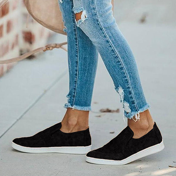 Kakimoda Perforated Loafers Slip On Walking Sneakers