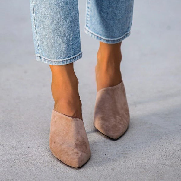 Kakimoda Pointed Toe Mules Heeled Sandals