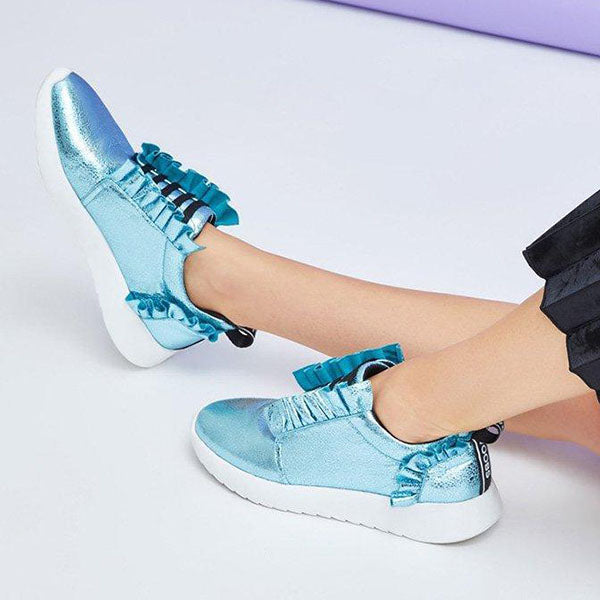 Kakimoda Athletic Ruffles Lace Up All Season Sneakers