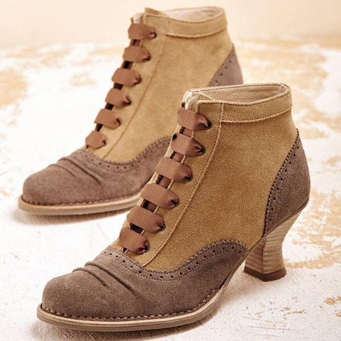 Kakimoda Women Stylish And Vintage Ankle Heels Boots