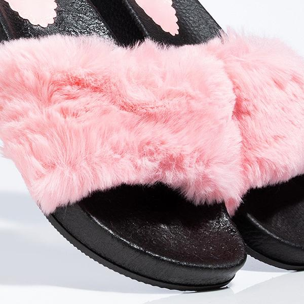 Kakimoda Faux Fur Pink Slippers