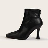 Kakimoda Side Zip Square Toe Ankle Boots