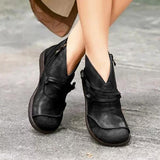 Kakimoda Flat Heel Casual Pu Leather Boots