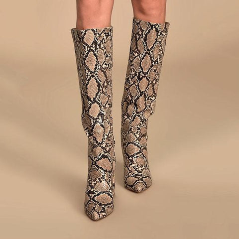 Kakimoda Pointed-Toe Knee High Boots