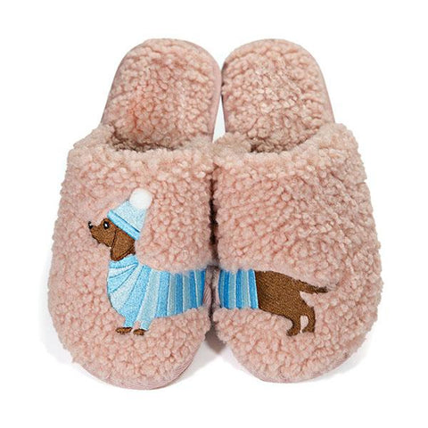 Kakimoda Plush Dachshund Slippers
