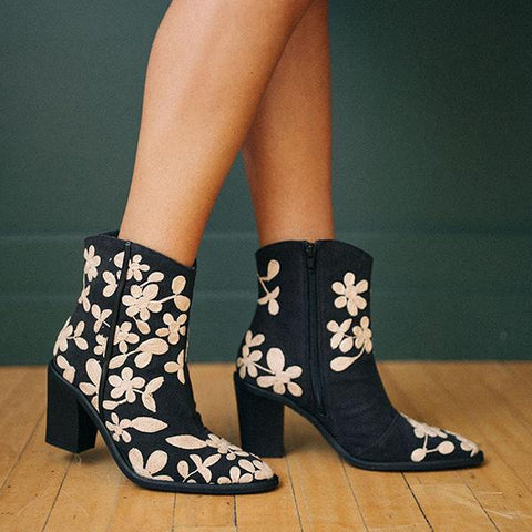 Kakimoda Embroidered Ankle Boots