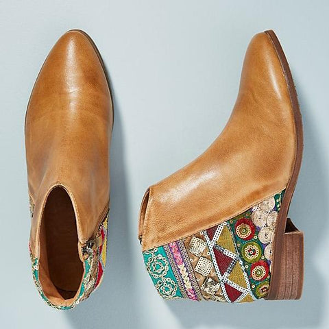 Kakimoda Bohemian Embroidered Retro Booties Shoes