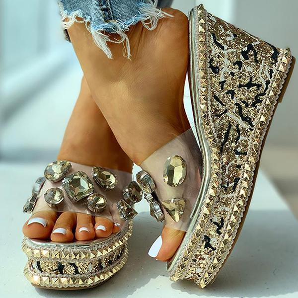 Kakimoda Open Toe Studded Rivet Heeled Sandals
