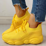 Kakimoda Non-Slip Knitted Breathable Lace-Up Yeezy Sneakers