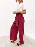 Kakimoda  Four-color Strappy Wide-leg Spring Casual Trouser
