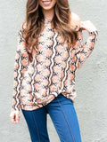 Kakimoda Pretty Little Python Print Off Shoulder Top