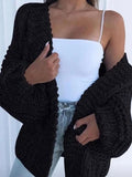 Kakimoda Puff Sleeve Loose Cardigan