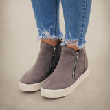 Kakimoda Textured Wedge Sneakers