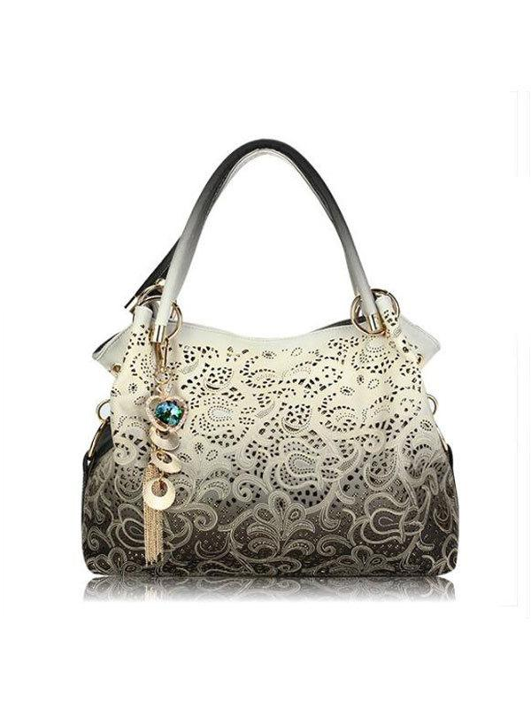 Kakimoda Vintage Hollow Carved Handbag ( Ship In 24 Hours )