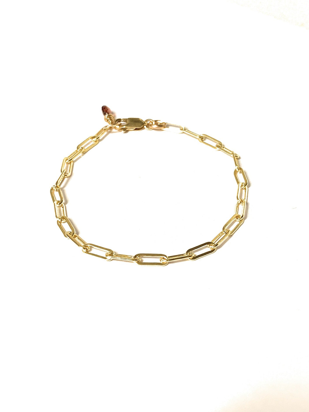 Paperclip Chain Link Gold Bracelet - MiShelli