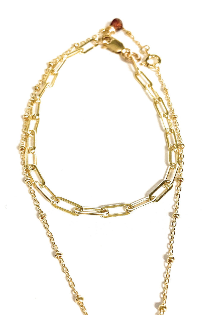 14K Yellow Gold Paperclip Chain Necklace - MiShelli