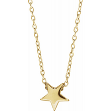 Load image into Gallery viewer, 14K Gold Star Layering Necklace - MiShelli