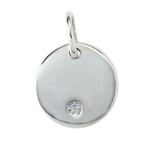 Diamond Disc Necklace, Sterling Silver - MiShelli