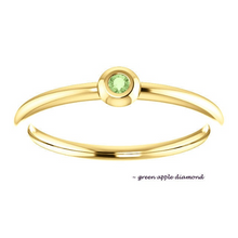 Load image into Gallery viewer, Mini Diamond 18k Yellow Gold Stacking Ring - MiShelli