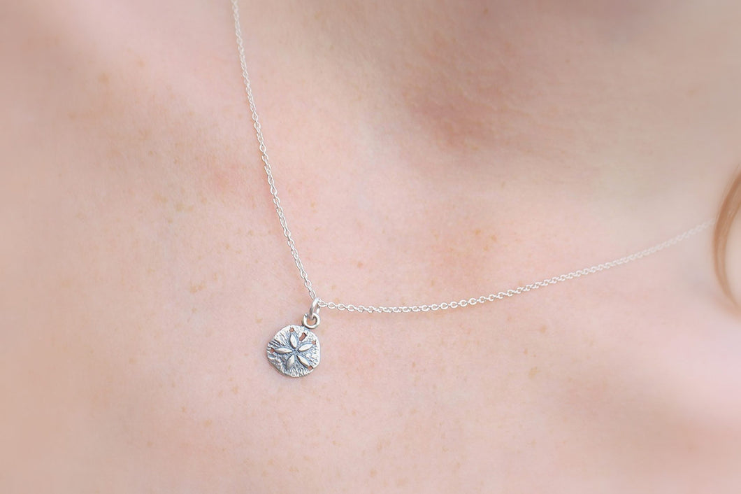 Sand Dollar Necklace .925 Sterling Silver - MiShelli