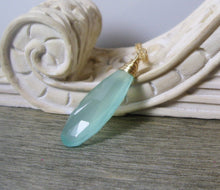 Load image into Gallery viewer, Aqua Chalcedony Layering Necklace - MiShelli