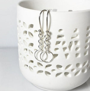 Sterling Silver Dangles, Simple Everyday Earrings, Gifts for her - MiShelli