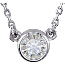 Load image into Gallery viewer, Petite Moissanite Solitaire Necklace - MiShelli