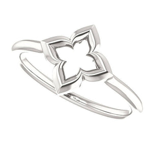 "Clover Ring, ""Hope, Faith, Love, and Luck"", Friendship, Promise Ring in Sterling Silver, Slim, Celtic Ring - MiShelli"