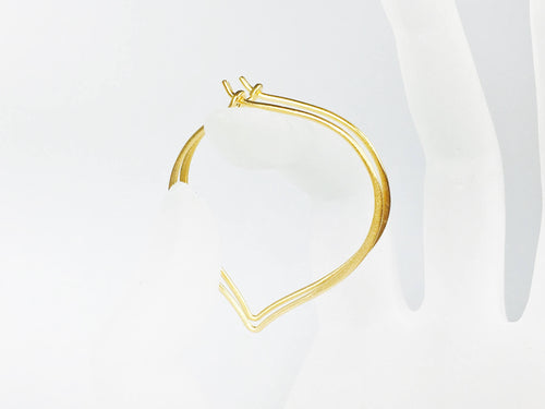 Large Gold Hoops, 24K Gold Vermeil Earrings, Medium or Large Ear Wires, Gifts for Her - MiShelli
