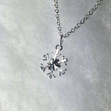 Load image into Gallery viewer, Petite Snowflake Necklace, .925 Sterling Silver Pendant, Gifts for Her, Winter Wonderland, Minimalist - MiShelli
